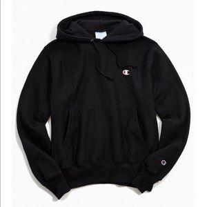 Champion Boyfriend Logo Patch Hoodie Sweatshirt